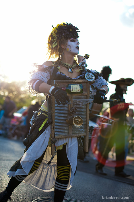Minor Mishaps Marching Band Day of the Dead - Viva la Vida Fest Austin