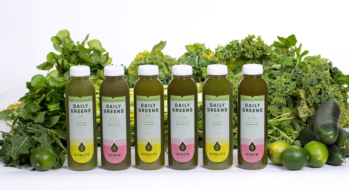 Daily Greens cold pressed juice
