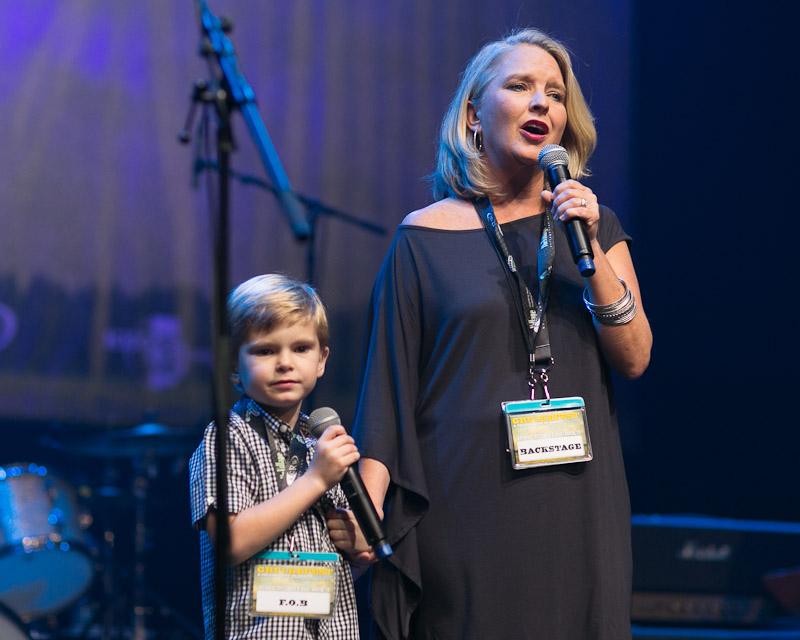 Kristen Brock Grulke, and a seven year-old son, Graham at Grulkefest