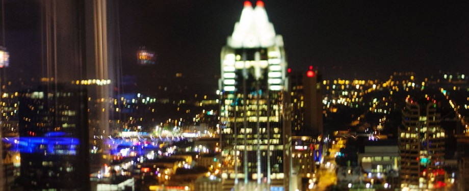 Austin Skyline frost bank tower tilt shift phto by Brian Birzer