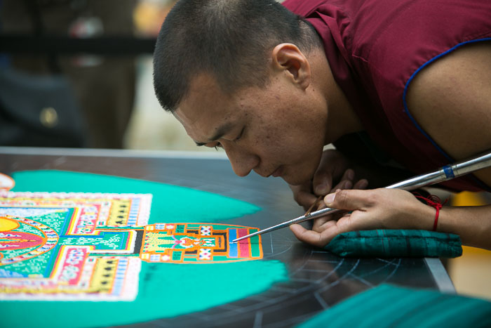 The Sand Mandala Project at the Blanton Museum Austin