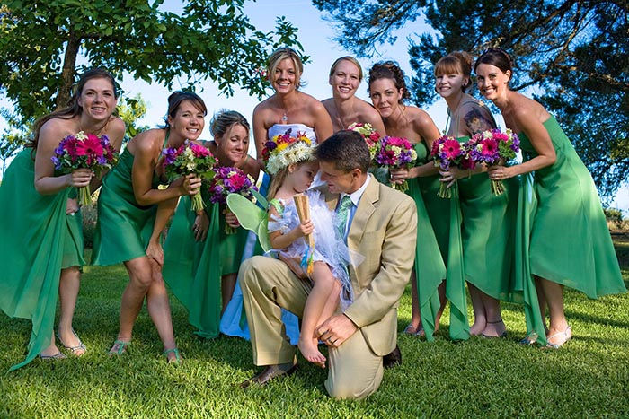 fantastic group and family wedding portraits