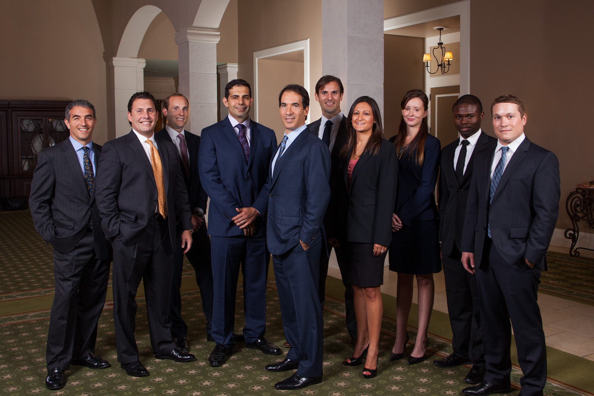 on location Corporate Group Portrait