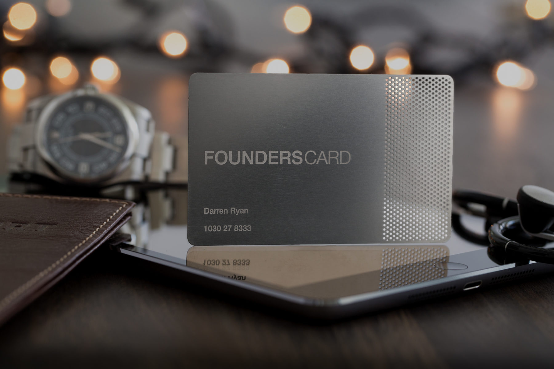 Founder's Card product shoot